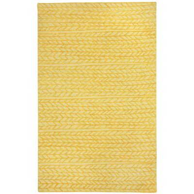 Spear Yellow Area Rug Rug Size: 5 x 8