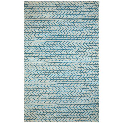 Spear Beige Blue Area Rug Rug Size: Rectangle 5 x 8