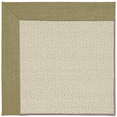Inspirit Machine Tufted Basil/Beige Area Rug Rug Size: Square 4