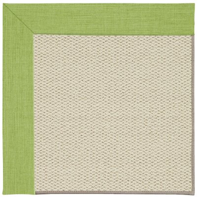 Inspirit Linen Machine Tufted Green Grass/Beige Indoor/Outdoor Area Rug Rug Size: Round 12 x 12