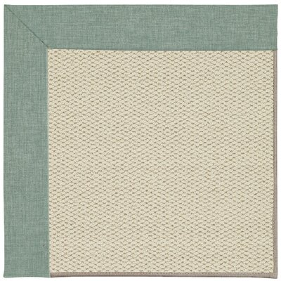 Inspirit Linen Machine Tufted Reef/Beige Area Rug Rug Size: Square 10