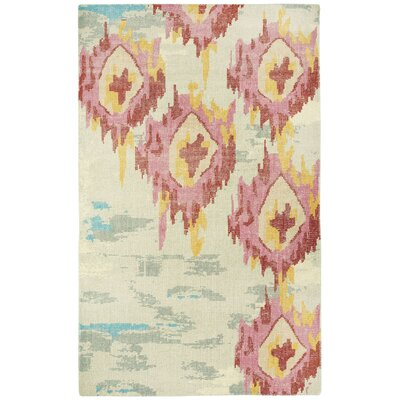 Sunset Hand Knotted Area Rug Rug Size: 5 x 8