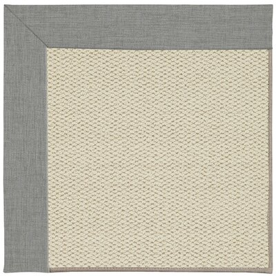 Barrett Linen Machine Tufted Steel/Beige Area Rug Rug Size: Square 6