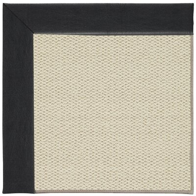 Inspirit Linen Machine Tufted Onyx/Beige Area Rug Rug Size: Square 6'