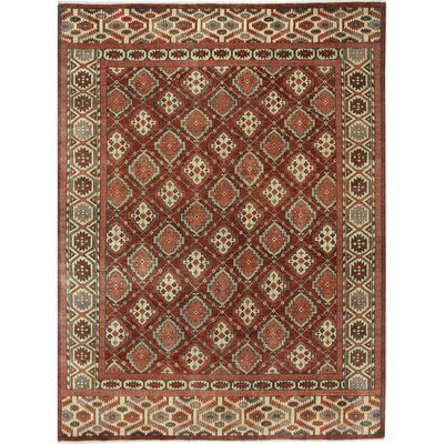 Biltmore Hand Knotted Dark Red Multi Area Rug Rug Size: 86 x 116