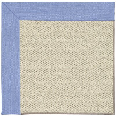 Inspirit Linen Machine Tufted Spa/Beige Area Rug Rug Size: Square 10