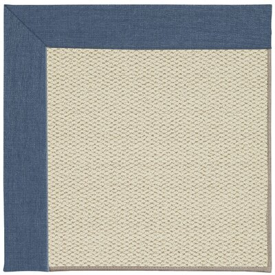 Inspirit Linen Machine Tufted Caribbean/Brown Area Rug Rug Size: Rectangle 9 x 12