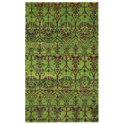 Round About Acrobat Hand Knotted Limeade Area Rug Size: 8 x 10