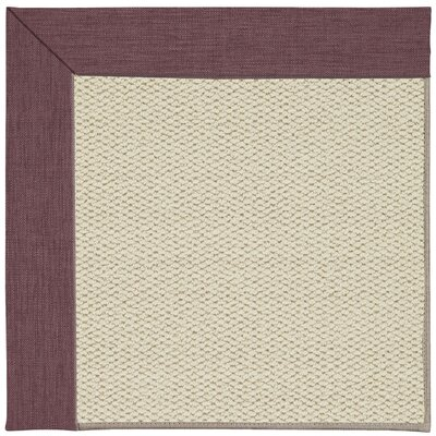 Inspirit Linen Machine Tufted Bluebel/Brownl Area Rug Rug Size: Square 10
