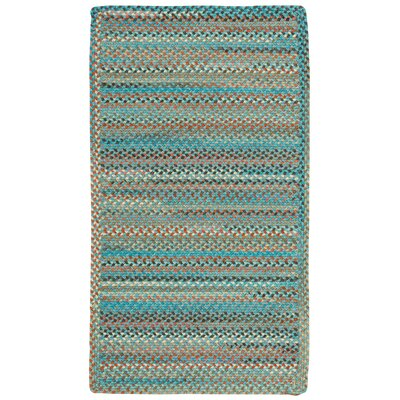 Jennie Lake Cross Sewn Braided Azure Area Rug Rug Size 4 x 6