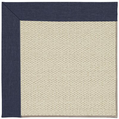 Inspirit Linen Machine Tufted Navy/Brown Area Rug Rug Size: Square 4