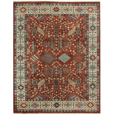 Biltmore Heritage Shiraz Hand Knotted Red Area Rug Rug Size: 56 x 86