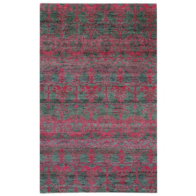Round About Acrobat Hand Knotted Raspberry Area Rug Size: 8 x 10