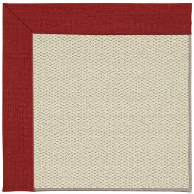 Inspirit Linen Machine Tufted Red/Yellow Area Rug Rug Size: Square 10