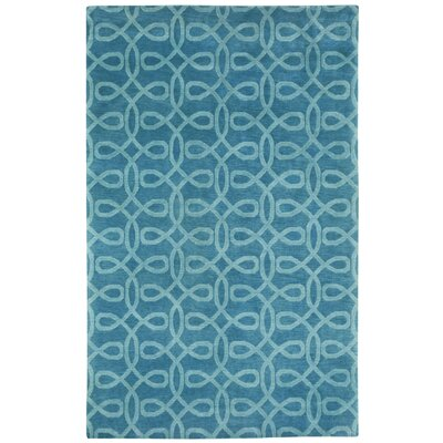 Cococozy Hand Knotted Periwinkle Area Rug Rug Size: 5 x 8