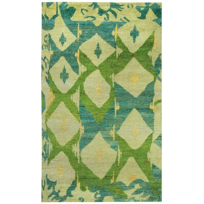 Round About Big Top Hand Knotted Key Lime Area Rug Rug Size: 8 x 10