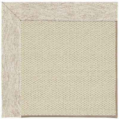 Inspirit Linen Machine Tufted Natural Area Rug Rug Size: Square 4