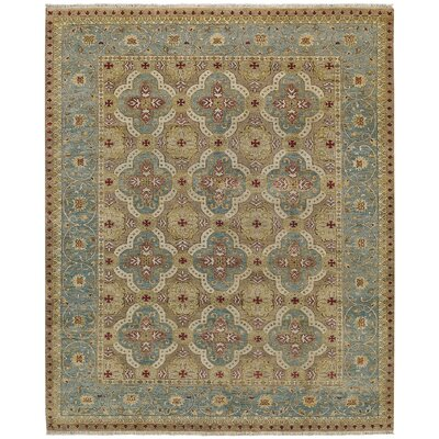 Brandon Hand Knotted Ocean Area Rug Rug Size: 86 x 116