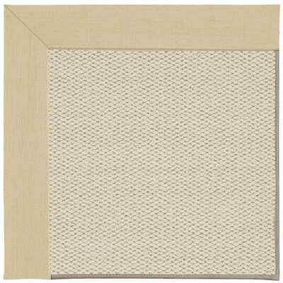 Inspirit Linen Machine Tufted Ivory/Beige Area Rug Rug Size: Square 6