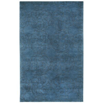 Cococozy Coil Hand Knotted Blue Area Rug Rug Size: 8 x 11