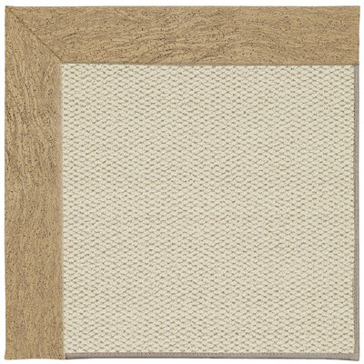 Inspirit Linen Machine Tufted Beige Area Rug Rug Size: Square 4