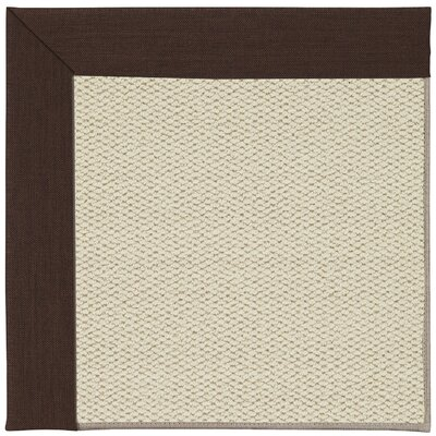 Inspirit Linen Machine Tufted Cocoa/Beige Area Rug Rug Size: Square 10