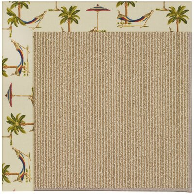 Zoe Machine Tufted Beige Indoor/Outdoor Area Rug Rug Size: Rectangle 9 x 12
