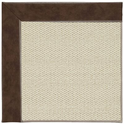 Inspirit Machine Tufted Burgundy Area Rug Rug Size: Square 10'