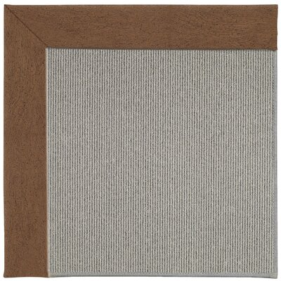 Inspirit Silver Machine Tufted Camel/Gray Area Rug Rug Size: Square 10