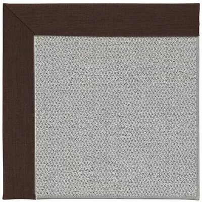 Inspirit Silver Machine Tufted Cocoa/Gray Area Rug Rug Size: Square 4