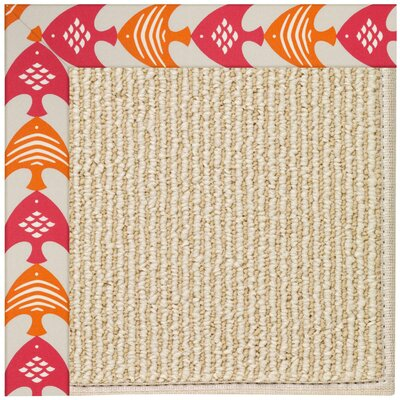 Zoe Machine Tufted Autumn/Brown Indoor/Outdoor Area Rug Rug Size: Round 12 x 12