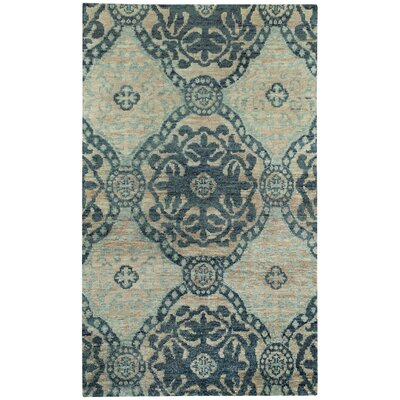 Round About Ring Leader Hand Knotted Blueberry Area Rug Rug Size: 36 x 56