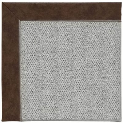 Inspirit Silver Machine Tufted Burgundy/Gray Area Rug Rug Size: Square 8