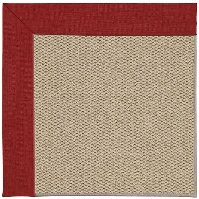 Inspirit Champagne Machine Tufted Apple Red/Beige Area Rug Rug Size: Square 8