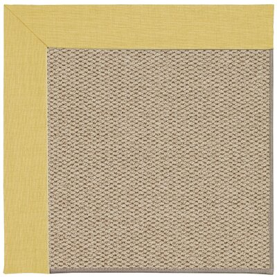 Inspirit Machine Tufted Yellow/Beige Area Rug Rug Size: Square 4