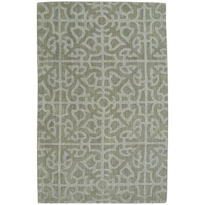 Williamsburg Ribbon Hand Tufted Ash Area Rug Rug Size: 5 x 8
