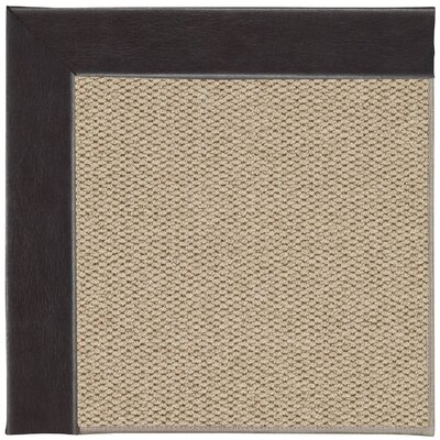 Inspirit Champagne Machine Tufted Black and Beige Area Rug Rug Size: Square 10