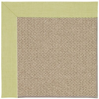 Inspirit Champagne Machine Tufted Light Green/Beige Area Rug Rug Size: Square 6