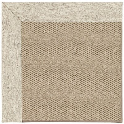 Inspirit Machine Tufted Natural/Brown Area Rug Rug Size: Square 10