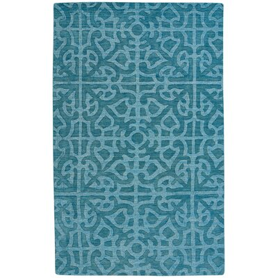 Williamsburg Ribbon Hand Tufted Ocean Area Rug Rug Size: 5 x 8