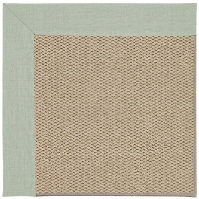 Inspirit Machine Tufted Minty/Beige Area Rug Rug Size: Square 4