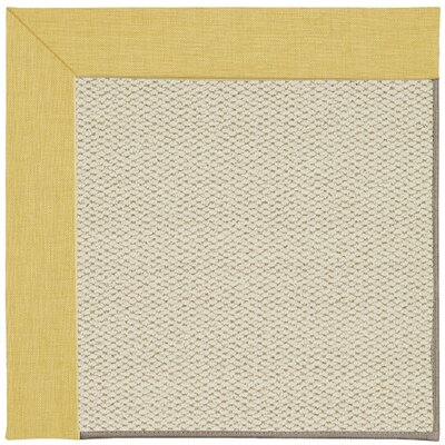 Inspirit Linen Machine Tufted Blond Area Rug Rug Size: Square 4