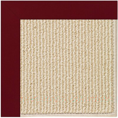 Zoe Machine Tufted Wine/Brown Indoor/Outdoor Area Rug Rug Size: Square 6