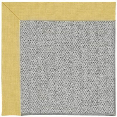 Inspirit Silver Machine Tufted Blond/Gray Area Rug Rug Size: Square 6