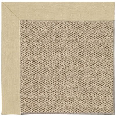 Inspirit Champagne Machine Woven Ivory/Beige Area Rug Rug Size: Rectangle 7 x 9