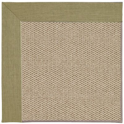 Inspirit Champagne Machine Tufted Basil/Beige Area Rug Rug Size: Square 4
