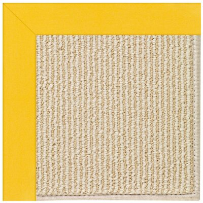 Zoe Machine Tufted Summertime Yellow/Beige Indoor/Outdoor Area Rug Rug Size: Round 12 x 12