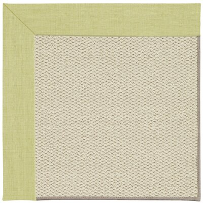 Inspirit Linen Machine Tufted Light Green/Beige Area Rug Rug Size: Square 8