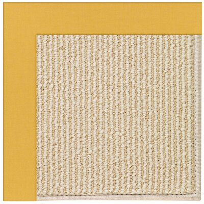 Zoe Machine Tufted Jonquil Indoor/Outdoor Area Rug Rug Size: Square 4