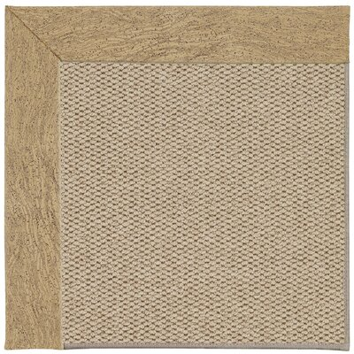 Inspirit Champagne Machine Tufted Beige Area Rug Rug Size: Square 6